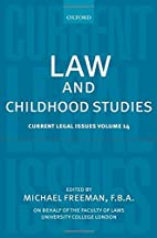 Law and Childhood Studies: Current Legal…