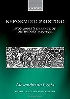 Reforming Printing: Syon Abbey's…