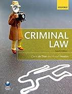 Criminal Law by Claire de Than