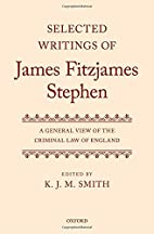 Selected Writings of James Fitzjames…