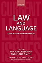 Law and Language: Current Legal Issues…