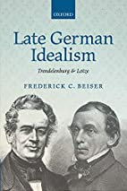Late German Idealism: Trendelenburg and…