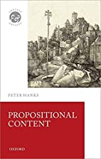 Propositional Content (Context and Content)…