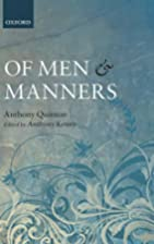 Of Men and Manners: Essays Historical and…