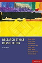Research Ethics Consultation: A Casebook by…