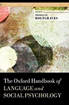 The Oxford Handbook of Language and Social…