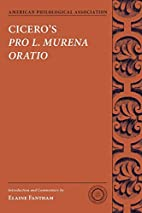Cicero's Pro L. Murena Oratio (American…