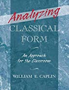 Analyzing Classical Form: An Approach for…