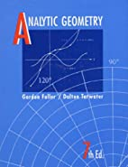 Analytic Geometry by Gordon Fuller