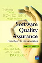 Software Quality Assurance: From Theory to…