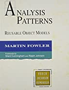 Analysis Patterns: Reusable Object Models by…