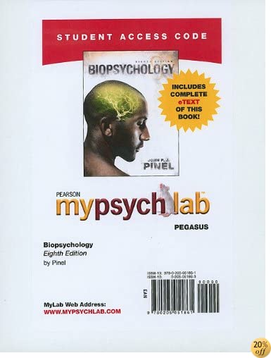 MyPsychLab Pegasus with Pearson eText -- Standalone Access Card -- for Biopsychology (8th Edition) (Mypsychlab (Access Codes))