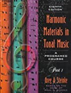 Harmonic Materials in Tonal Music a…