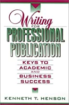 Writing for Professional Publication: Keys…
