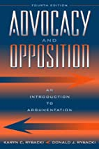 Advocacy and Opposition: An Introduction to…
