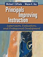 Principals improving instruction :&hellip;