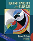 Reading Statistics and Research by Schuyler…