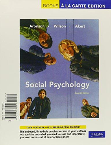 social-psychology-books-a-la-carte-plus-mypsychlab-7th-edition