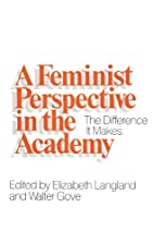 A Feminist Perspective in the Academy: The…