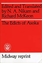 Edicts of Asoka (Midway Reprint Series) by…