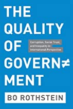 The Quality of Government: Corruption,…