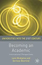 Becoming an Academic (Universities into the…