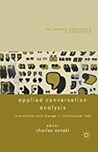 Applied Conversation Analysis: Intervention…