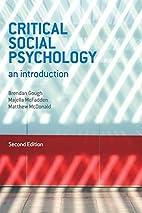 Critical social psychology : an introduction…