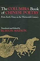 The Columbia Book of Chinese Poetry by…