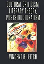Cultural Criticism, Literary Theory,…