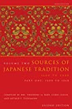 Sources of Japanese Tradition Pt. 1 From 1600 1868