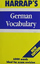 Harrap German Vocabulary