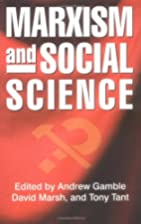Marxism and Social Science by Andrew Gamble