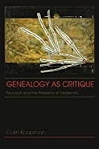 Genealogy as Critique: Foucault and the…