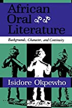 African Oral Literature: Backgrounds,…