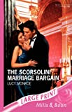Monroe, Lucy: The Scorsolini Marriage Bargain (Romance Large)