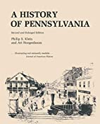 A History of Pennsylvania by Philip Shriver…