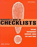 Rowntree, Derek: The Manager's Book of Checklists: Everything You Need to Know, When You Need to Know It