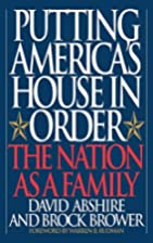 Putting America's House in Order: The Nation…