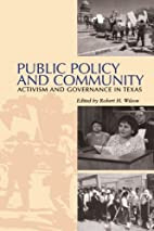 Public Policy and Community: Activism and…