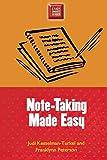 Judi Kesselman-Turkel: Note-Taking Made Easy (Study Smart Series)