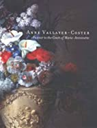 Anne Vallayer Coster: Painter to the Court…
