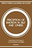 Blankstein, Kirk R.: Perception of Emotion in Self and Others