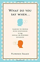 What Do You Say When . . .: Talking to…