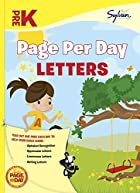 Pre-K Page Per Day: Letters (Page Per Day…