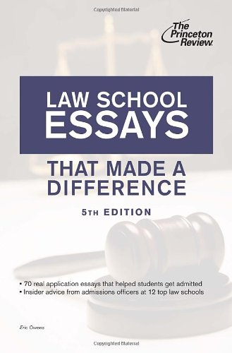 law-school-essays-that-made-a-difference-5th-edition-graduate-school-admissions-guides