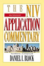 The NIV Application Commentary Deuteronomy…