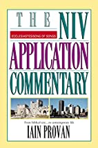 The NIV Application Commentary Ecclesiastes…