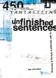 Christie, Les: Unfinished Sentences: To Get Teenagers Talking & Thinking