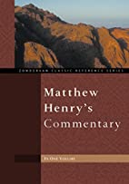 Matthew Henry's Commentary by Matthew Henry